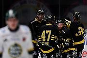 STOCKHOM 2017-10-18. Christian Sandberg i AIK jublar efter att ha gjort 2-1 under matchen i Hockeyallsvenskan mellan AIK och IF Bj&ouml;rkl&ouml;ven p&aring; Hovet, Stockholm, den 18 oktober 2017.<br /> Foto: Nils Petter Nilsson/Ombrello<br /> ***BETALBILD***