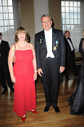 MR & MRS YURI FEDOTOV he is The Ambasador of the Russian Federation at the 13th annual Russian Summer Ball held at the Banqueting House, Whitehall, London on 14th June 2008.<br /><br />NON EXCLUSIVE - WORLD RIGHTS