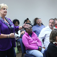 Adam Robison | BUY AT PHOTOS.DJOURNAL.COM<br /> Pam Turner, of Tupelo, talks about her experiences and what she has learned by participating in the citizens police academy at the final meeting that was held on Monday night.