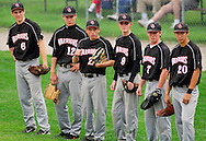 18 MAY 2010 -- O'FALLON, Ill. -- Granite City High School baseball players wait for their teammates to finish their warmups before the start of Granite City's game against O'Fallon Township HIgh School in O'Fallon, Ill. Tuesday, May 18, 2010. Photo © copyright 2010 by Sid Hastings.
