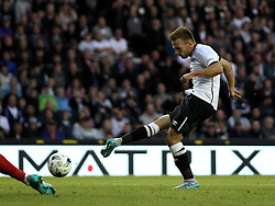 Derby County's Andreas Weimann scores a goal - Mandatory by-line: Robbie Stephenson/JMP - 07966386802 - 29/07/2015 - SPORT - FOOTBALL - Derby,England - iPro Stadium - Derby County v Villarreal CF - Pre-Season Friendly