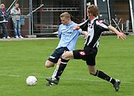 FODBOLD: Jonas Rohrberg (Helsingør) scorer til 0-2 under kampen i Kvalifikationsrækken, pulje 1, mellem B.1903 og Elite 3000 Helsingør den 27. maj 2006 på B.1903's anlæg. Foto: Claus Birch