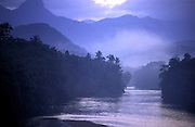 Sri Lanka. Wak Oya river at dawn.