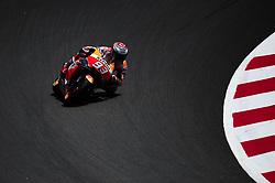 June 16, 2018 - Barcelona, Catalonia, Spain - The Spanish rider, Marc Marquez of Repsol Honda Team, riding with his Honda during the Qualifying, Moto GP of Catalunya at Circuit de Catalunya on June 16, 2018 in Barcelona, Spain. (Credit Image: © Joan Cros/NurPhoto via ZUMA Press)