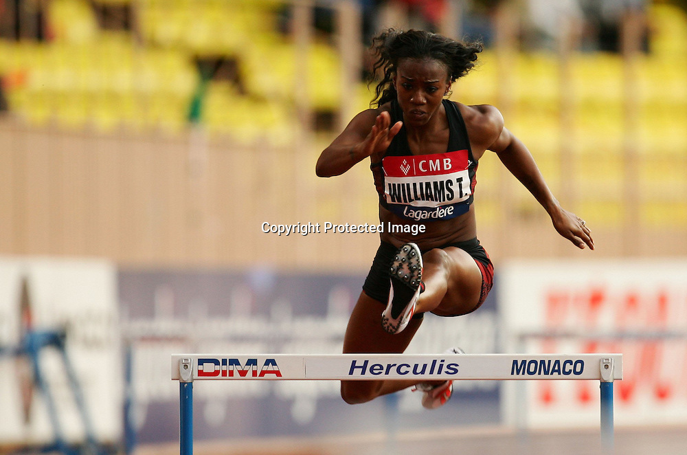 Tiffany Ross Williams (usa) - 400m 400 m Haies - Meeting de Herculis Monaco - 29.07.2008 - Athle Athletisme - Femme Femmes Feminin Feminine - largeur action