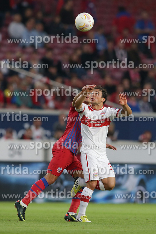20.09.2012, Mercedes Benz Arena, Stuttgart, GER, UEFA Europa League, VfB Stuttgart vs Steaua Bukarest, Gruppe E, im Bild Tamas HAJNAL (VfB Stuttgart) // during the UEFA Europa League group E match between VfB Stuttgart and Steaua Bukarest at the Mercedes Benz Arena, Stuttgart, Germany on 2012/09/20. EXPA Pictures © 2012, PhotoCredit: EXPA/ Eibner..***** ATTENTION - OUT OF GER *****