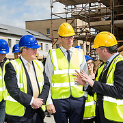 24.04.2017.       <br /> Minister for Housing Simon Coveney visiting the Lord Edward Street site in Limerick, where 81 units for social housing are nearing completion as part of the Limerick Regeneration programme.  57 of which are elderly units (1 and 2 bed apts and 2 bed houses) with the remainder (24) being family homes (3 bed)​. Picture: Alan Place.<br /> <br /> Pictured on site were, Senator Kieran O'Donnell, Minister for Housing Simon Coveney and Senior Executive Architect at Limerick City Council, Seamus Hanrahan. Picture: Alan Place.