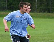 FODBOLD: Patrik Norell (Helsingør) under kampen i Kvalifikationsrækken, pulje 1, mellem AB og Elite 3000 Helsingør den 20. maj 2006 på Skovdiget Idrætsanlæg. Foto: Claus Birch
