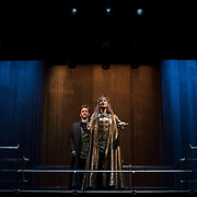 March 24, 2016 - New York, NY : From left, Sam Marks (as Aumerle) and David Tennant (as Richard II) perform during a photo call/dress rehearsal for The Royal Shakespeare Company's (RSC) Richard II at the Brooklyn Academy of Music's (BAM) Harvey Theater in Brooklyn on Thursday afternoon. The production, which is being directed by RSC Artistic Director Gregory Doran as part of Shakespeare's Great Cycle of Kings, marks the 400th anniversary of William Shakespeare's death.  CREDIT: Karsten Moran for The New York Times