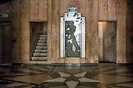 Art Deco lobby in Havana Vedado, Cuba.