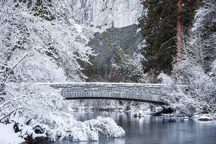 Sentinel Bridge, Yosemite Valley, Yosemite National Park, California.