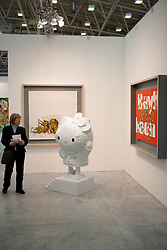 people in artefiera stands