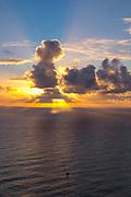 Sailboat, Sunrise, Hawaii