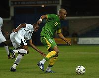 Photo: Tony Oudot.<br /> Ghana v Senegal. International Friendly. 21/08/2007.<br /> Hadji El Diouf of Senegal moves away from Iliasu Al Hassan of Ghana
