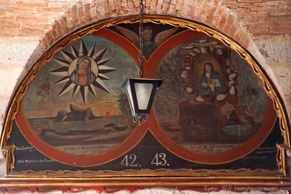 South America, Peru, Arequipa. Painting in Main Cloisters of Monasterio de Santa Catalina.