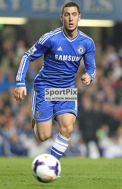 Chelsea's Eden Hazard during the English Barclays Premiership match between Chelsea FC and Tottenham Hotspur FC at Stamford Bridge, London, 8th March 2014 © Phil Duncan | SportPix.org.uk