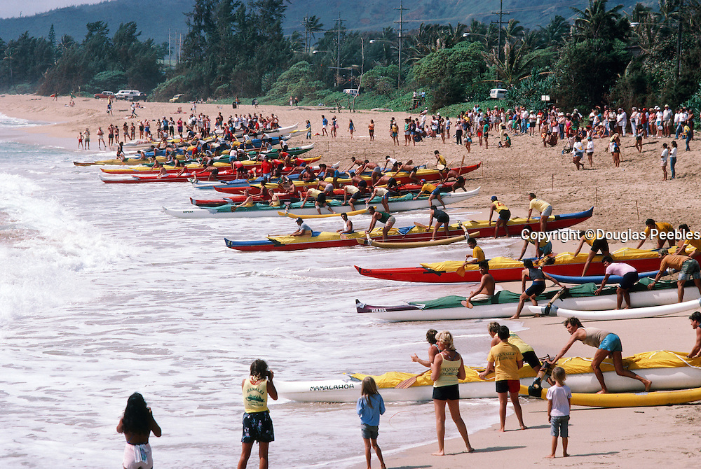 Outrigger Canoe Race, Wailua Beach, Kauai, Hawaii