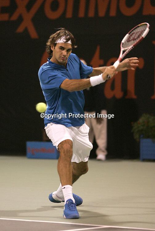 Qatar, Doha, ATP Tennis Turnier Qatar Open 2005, Roger Federer (SUI), 07.01.2005,<br />Foto: Juergen Hasenkopf