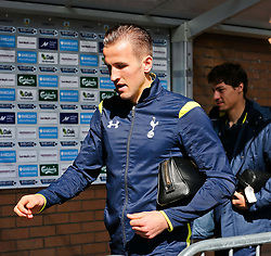 Tottenham's Harry Kane arrives at Turf Moor - Photo mandatory by-line: Matt McNulty/JMP - Mobile: 07966 386802 - 05/04/2015 - SPORT - Football - Burnley - Turf Moor - Burnley v Tottenham Hotspur - Barclays Premier League