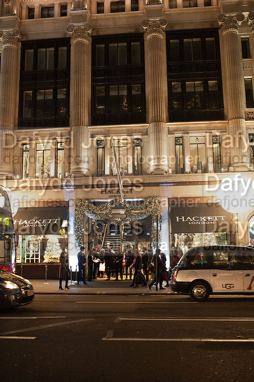 Opening of new Hackett flagship store. Regent St. London. 28 November 2013.