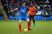 Peterborough United defender Andrew Hughes (3) during the EFL Sky Bet League 1 match between Peterborough United and Southend United at London Road, Peterborough, England on 3 February 2018. Picture by Nigel Cole.
