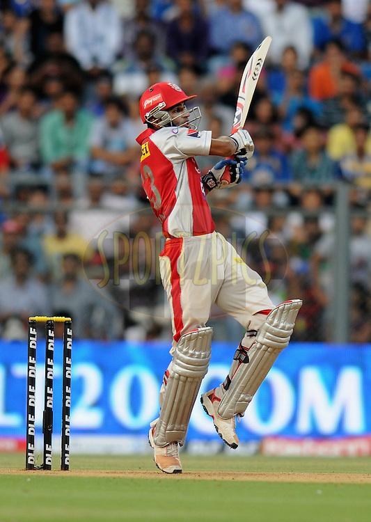 Nitin Saini of Kings XI Punjab bats during match 28 of the Indian Premier League ( IPL) 2012  between The Mumbai Indians and the Kings X1 Punjab held at the Wankhede Stadium in Mumbai on the 22nd April 2012..Photo by Pal Pillai/IPL/SPORTZPICS.