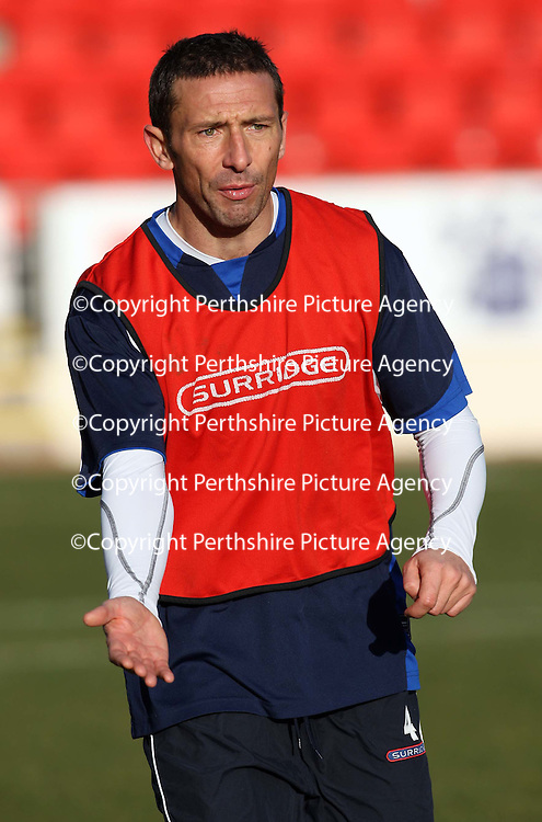 St Johnstone training...23.11.07<br /> Derek McInnes in training ahead of Sunday's Challenge Cup Final against Dunfermline.<br /> Picture by Graeme Hart.<br /> Copyright Perthshire Picture Agency<br /> Tel: 01738 623350  Mobile: 07990 594431