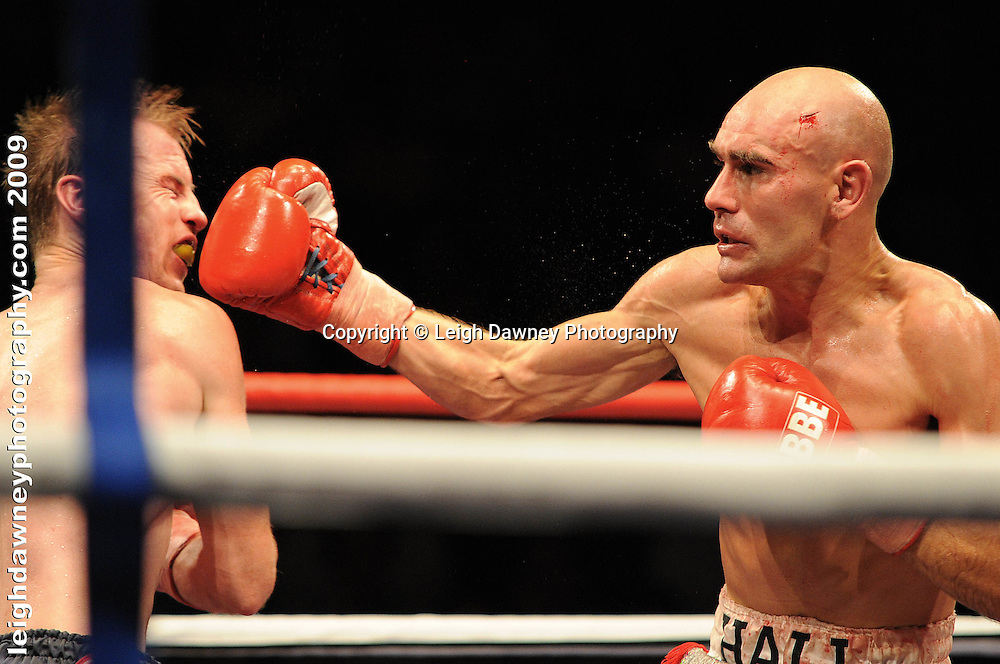 Stuart Hall defeats Martin Power at the Brentwood Centre UK on 11th September 2009 Promoter Frank Maloney. Credit: ©Leigh Dawney Photography