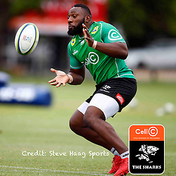 Tendai Beast Mtawarira of the Cell C Sharks during The Cell C Sharks training session at Jonsson Kings Park Stadium in Durban, South Africa. 18 March 2019 (Mandatory Byline Steve Haag)