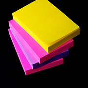Colorful post-it sticky notice labels