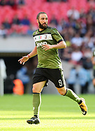Juventus Gonzalo Higuain in action during the pre season match at Wembley Stadium, London. Picture date 5th August 2017. Picture credit should read: David Klein/Sportimage