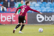 Bradford City midfielder Jake Reevesin action during the EFL Sky Bet League 2 match between Macclesfield Town and Bradford City at Moss Rose, Macclesfield, United Kingdom on 30 November 2019.