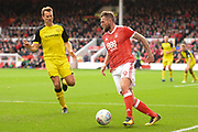 Nottingham Forest forward Daryl Murphy (9) during the EFL Sky Bet Championship match between Nottingham Forest and Burton Albion at the City Ground, Nottingham, England on 21 October 2017. Photo by Jon Hobley.
