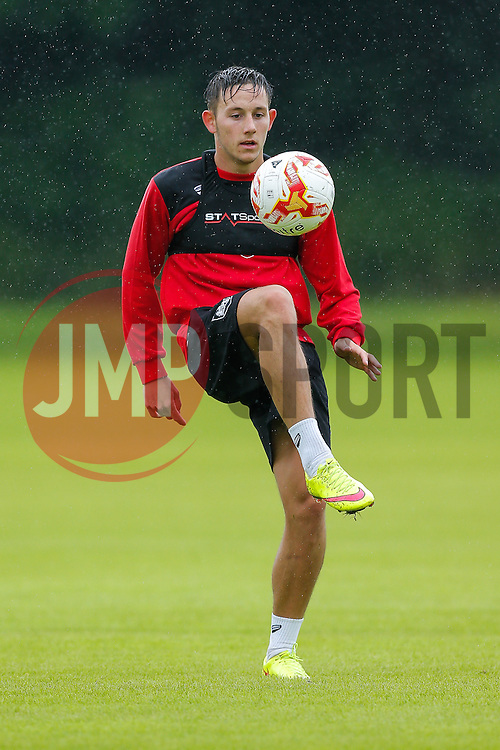 New Signing Josh Brownhill in action as Bristol City return to training ahead of their 2016/17 Sky Bet Championship campaign - Photo mandatory by-line: Rogan Thomson/JMP - 29/06/2015 - FOOTBALL - Bristol, England - Failand Training Ground - Bristol City Pre Season Training.