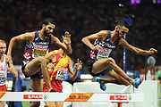 Mahiedine Mekhissi Benabbad and Djilali Bedrani compete in men 3000m steeple during the European Championships 2018, at Olympic Stadium in Berlin, Germany, Day 3, on August 9, 2018 - Photo Philippe Millereau / KMSP / ProSportsImages / DPPI