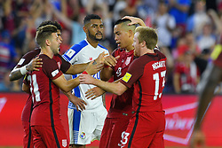 October 6, 2017 - Orlando, Florida, USA - United States forward Bobby Wood (9) celebrates after scoring during a World Cup qualifying game against Panama at Orlando City Stadium on Oct. 6, 2017 in Orlando, Florida. The US won 4-0....ZUMA Press/Scott A. Miller (Credit Image: © Scott A. Miller via ZUMA Wire)