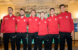 Team Poland during Official Draw of Davis Cup 2018 tournament between National teams of Slovenia and Poland, on February 2, 2018 in Mestna hisa - Mariborski Rotovz, Maribor, Slovenia. Photo by Rene Gomolj / Sportida