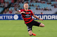 February 18, 2017:  Western Sydney Wanderers defender Jack CLISBY (3) in pain at Round 20 of the 2016 Hyundai A-League match, between Western Sydney Wanderers and Sydney FC, played at ANZ Stadium in Sydney.