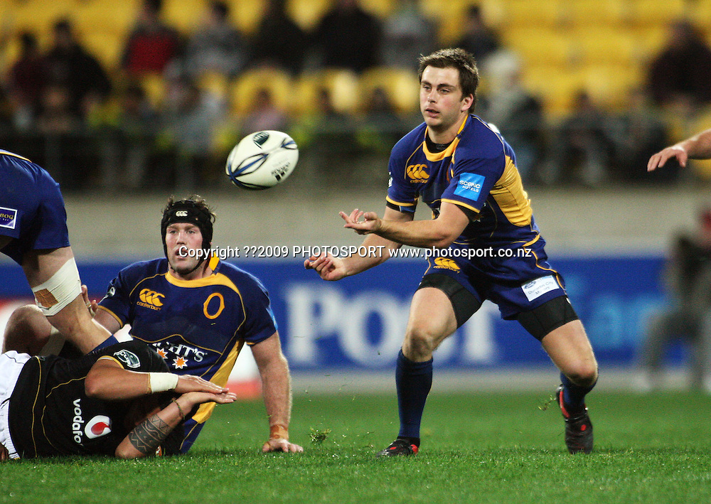Otago halfback Sean Romans.<br /> Air NZ Cup Ranfurly Shield match - Wellington Lions v Otago at Westpac Stadium, Wellington, New Zealand. Friday, 31 July 2009. Photo: Dave Lintott/PHOTOSPORT