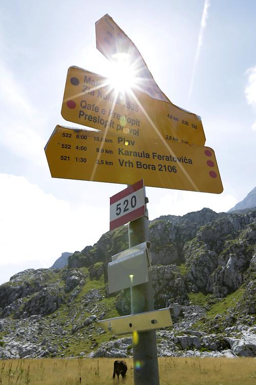 Climbing up to Zla Kolata / Maja e Keq 2535m, from Valbona valley, Albania.