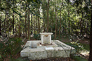 Grave of Ehelapola Wijesoondra Wieckramasingha Chandrasekra Amarakoon Wahala Nodianse. Late first Adikar or Prime Minister to the King of Kandy. Died 4th April 1829, aged 67 years..Exiled to Mauritius by the British, died and buried on the island.