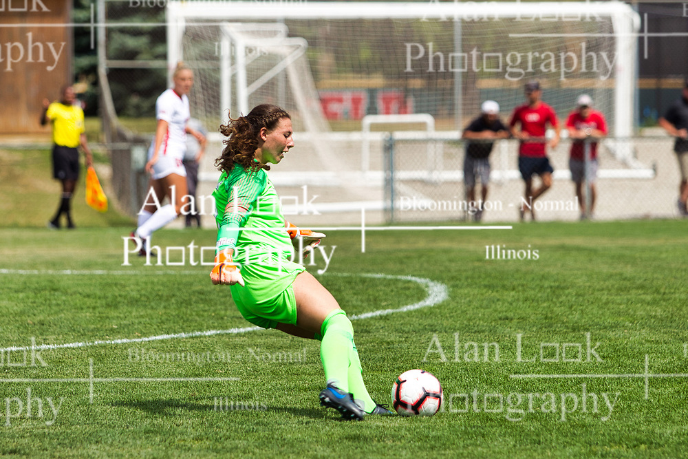 NORMAL, IL - August 10: Haley Smith during a nonconference exhibition women's soccer match between the Southern Illinois Edwardsville Cougars and the Illinois State Redbirds August 10 2019 on Adelaide Street Field in Normal IL (Photo by Alan Look)