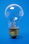 A light bulb against a blue background