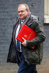 © Licensed to London News Pictures. 03/03/2015. LONDON, UK. Energy and Climate Secretary Ed Davey attending to a cabinet meeting in Downing Street on Tuesday, 3 March 2015. Photo credit: Tolga Akmen/LNP