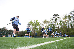 14 April 2008: North Carolina Tar Heels men's lacrosse midfielder Cryder DiPietro (48) during a practice day in Chapel Hill, NC.
