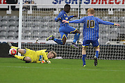Dan Ano of AFC Wimbledon during the FA Youth Cup match between Newcastle United and AFC Wimbledon at St. James's Park, Newcastle, England on 6 January 2016. Photo by Stuart Butcher.
