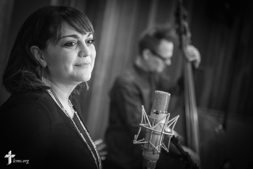 The Erin Bode Group records a music video for the LCMS Eyes of Life Campaign at Blackbird Studio on Tuesday, June 28, 2016, in Nashville, Tenn.  LCMS Communications/Erik M. Lunsford