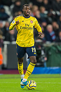 Nicolas Pepe (Arsenal) during the Premier League match between West Ham United and Arsenal at the London Stadium, London, England on 9 December 2019.