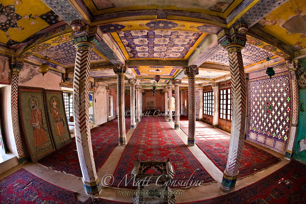 Colorful Room in Old Palace, India.<br /> (Photo by Matt Considine - Images of Asia Collection)