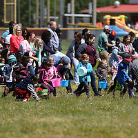 The 2-5 age group came out running Saturday during the Easter Egg Hunt at Veterans park